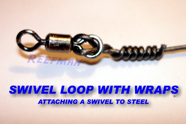 Knots in steel swivel loop wrap ultimate angling the for Fishing swivel knot